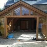 Underfloor Heating Project- Oak frame